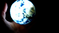 Peace On Earth - Grabbing Globe - God Is Love.mp4 Stock Footage