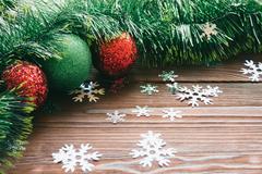 Christmas decoration on the wooden background Kuvituskuvat
