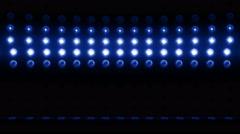 3d light bulb stage vertical scanning 4K LOOP Blue - stock footage