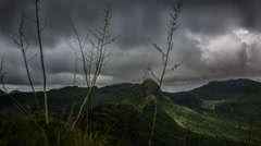 Time lapse mountains in Mauritius - stock footage