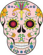 Scull. Mexico.Pop-art illustration Stock Illustration