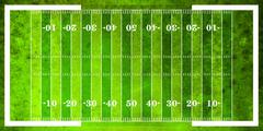 Aerial View of American Football Field Stock Illustration