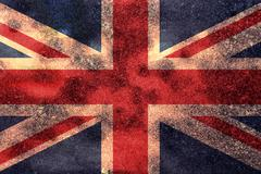 Worn Union Jack Grunge Flag Background Stock Illustration