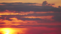 Red Sunset in Sky Stock Footage