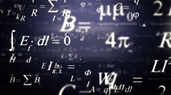Best purple Physics and Mathematics formulas flying though. Stock Footage