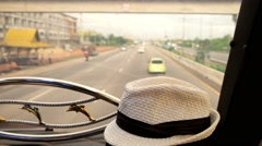 View of the tourist bus Stock Footage