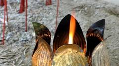 Metal Lotus Light Burning Stock Footage