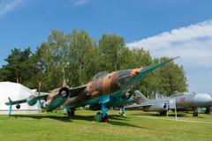 Aviation museum in Belarus Stock Photos