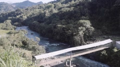 Bridge between Ecuador and Colombia Stock Footage