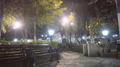 Colonial main square by night Stock Footage