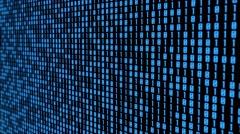 Blue binary code wall looped animation Arkistovideo