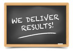 Blackboard We Deliver Results Stock Illustration