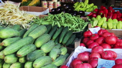 Vegetables Market Stock Footage