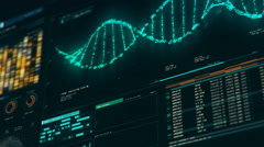 Analyzing DNA structure, forensic research, genes and genetic disorders, science Stock Footage