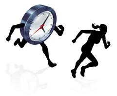 Running Against the Clock Stress Pressure Concept Stock Illustration