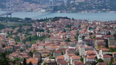 Panorama of Istanbul from the Big Camlica Hill - stock footage