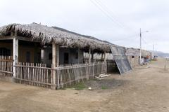 Traditional Wooden House -  Ecuador Stock Photos