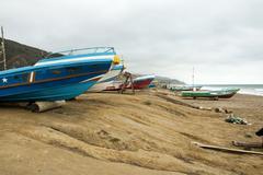 View of a Beach in Manta - Ecuador Stock Photos