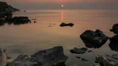 Sunrise over the Tsimlyansk reservoir. Volgodonsk, Rostov region, Russia Stock Footage