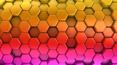 Animated Colored Honeycombs - stock footage