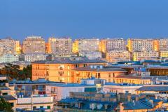 Genoa. Night view of the city Stock Photos