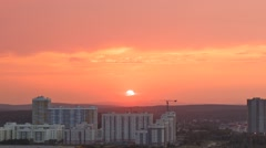 The sky at sunset and beyond. Zoom. Ekaterinburg, Russia. TimeLapse Stock Footage