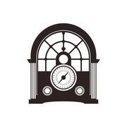 radio retro vintage music icon. Vector graphic - stock illustration