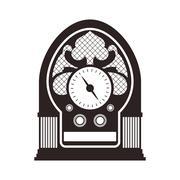Radio retro vintage music icon. Vector graphic Stock Illustration