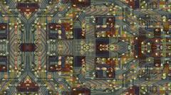 Integrated Circuit Board Stock Illustration