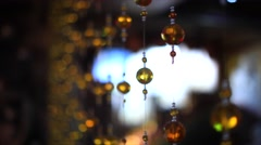Closeup view of contemporary light fixture Stock Footage