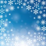 Winter snowflake christmas blue icon. Vector graphic Piirros