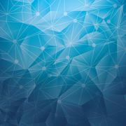 Polygonal wallpaper geometric shape icon. Vector graphic Stock Illustration