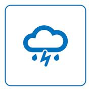 Cloud lightning rain icon Piirros