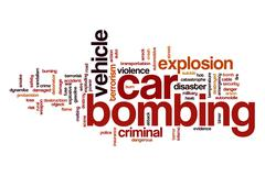 Car bombing word cloud concept Stock Illustration