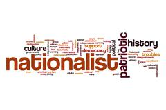 Nationalist word cloud concept Stock Illustration