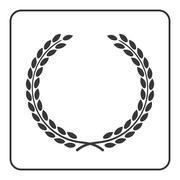 Laurel wheat wreath symbol victory achievement icon Stock Illustration