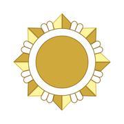 Medal award icon Gold star Stock Illustration