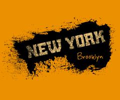 T shirt typography graphics New York orange Stock Illustration