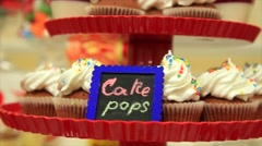 Sweet Round Candy, Lollipop,Cupcake Stock Footage