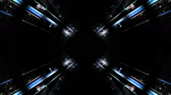 Blue tunnel with circles_Clear Stock Footage
