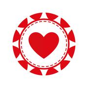 Chip casino las vegas game lucky icon. Vector graphic Stock Illustration