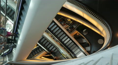 4K MyZeil shopping Mall arcade Zeil street Frankfurt am Main Germany Europe Stock Footage