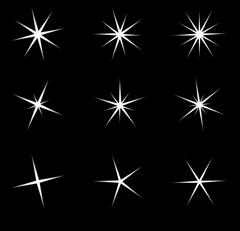 Transparent star vector symbol icon design. Beautiful illustration of glowing Stock Illustration