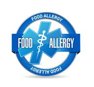 Food allergy seal sign illustration Stock Illustration