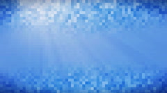 Water in white blue mosaic tile abstract motion background, UHD 4k 3840x2160. Stock Footage