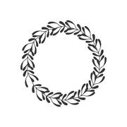 wreath crown decoration icon. Vector graphic - stock illustration