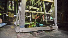 A spinning wheel, to produce hand woven bengali handloom Stock Footage