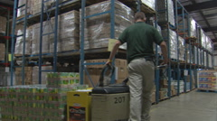 Warehouse Forklift storage inventory Stock Footage