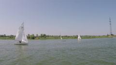 Sailing regatta to celebrate the City Day July 31 in Volgodonsk, Rostov region,  Stock Footage