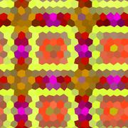 Pattern low poly hexagon style vector mosaic background - stock illustration